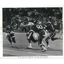 1988 Press Photo East Central and Fox Tech play a high school football game