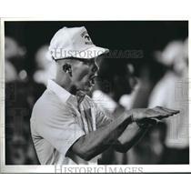 1989 Press Photo Jefferson High School football coach Marshall Fleener