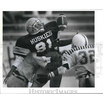 1989 Press Photo Holmes and Ray high schools play a prep football game