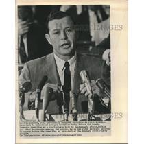 1963 Press Photo Gov Carl Sanders of Georgia testifies before Commerce Committee