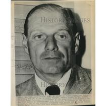 """1947 Press Photo Leo """"Lippy"""" Durocher, Manager of the Brooklyn Dodgers"""