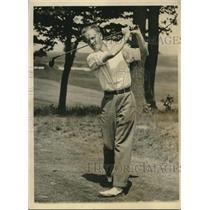 1933 Press Photo Golfer George T. Dunlap, Jr. - nos09406
