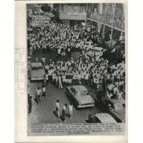 1964 Press Photo Panamanians demonstrate in streets against the United States