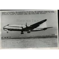 1962 Press Photo Lockheed's new 92-ton, 180 passenger transport plane