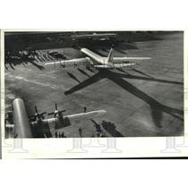 1960 Press Photo Jets on the Runway at New Orleans International Airport