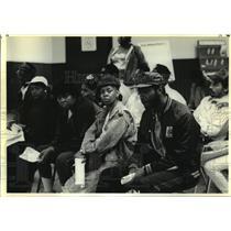 1990 Press Photo Edmund Hutchinson At Michigan Employment Security Commission