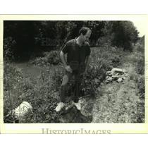1994 Press Photo Wayne Domingue on His Louisiana Wetlands Property - noa98531