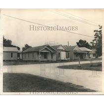 1955 Press Photo Houses on Floyd Lot, part of City land probe, Houston