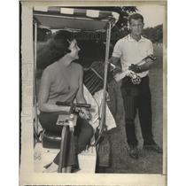 1966 Press Photo Golfer Don Rayburn and his wife - sas02832