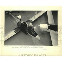 1986 Press Photo John Monnett's firm sells plans & kits for experimental planes