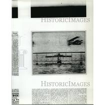 1993 Press Photo Byplane Airplanes in the Air and Water - not00101