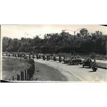 1988 Press Photo Motorcycle parade travels along Saint Bernard Highway
