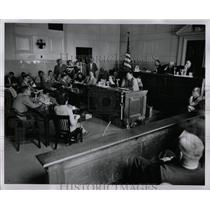 1954 Press Photo Red Hearing Courtroom Overview - RRW90669