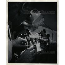 1966 Press Photo Microelectronics industry impact tiny - RRW24315