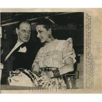 1947 Press Photo Baseball Manager Leo Durocher and wife Actress Lorraine Day