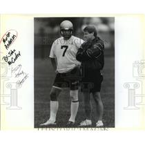 Press Photo New Orleans Saints Morten Andersen Talking with Unidentified Man