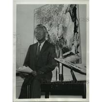 1958 Press Photo Roy W. Johnson, Advance Research Projects Agency director