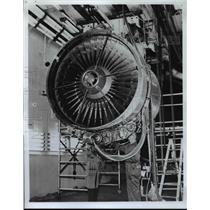 1968 Press Photo General Eletric Company new CF6-6 commercial turbofan