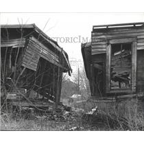 1965 Press Photo Dilapidated Property four blocks from Jefferson County Courts