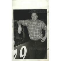1972 Press Photo Car Racer Earl Speegle Stands By His Late Model Stock Car