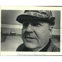1987 Press Photo Antigo Wisconsin - George Shinners, Youth Hockey Association