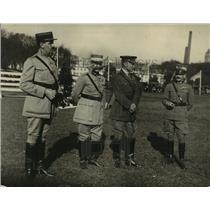 1922 Press Photo Lt Lahat, Col Dumont, Maj Gen Bethell ,Col Guidoni at horseshow