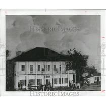 1837 Press Photo Old Capital House, now the Capital Hotel, Houston - hca17231