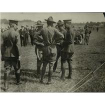 1918 Press Photo Army Officers on Tour of Inspection at Van Cortlandt Park