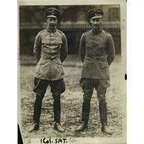 1919 Press Photo Crown Prince of Germany and another Junker Capt.Zobelsky