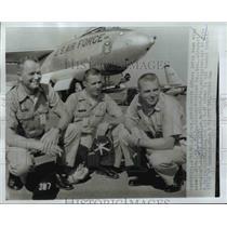 1961 Press Photo Maj William Stringfellow, Capt Donald Kallum, 1st Lt Yale Davis