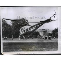 1967 Press Photo Air Force helicopter for president Eisenhower's use - nem51506