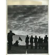 1943 Press Photo Aviation Cadets Parade at on the ramp at Coffeyville Army Field