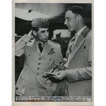 1951 Press Photo capt.James Jabara firts jet ace shot down six fighters in Korea