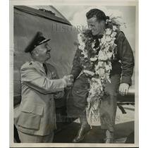 1949 Press Photo Lt Walter Rew wins Allison Jet Trophy Race in Cleveland