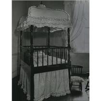1958 Press Photo Crib in Confederate White House, Montgomery, Alabama
