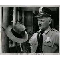 1954 Press Photo Harry Davis Joseph Shotgun Bullets Hat - RRW67837