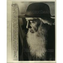 1964 Press Photo Amish patriarch Noah Schwartz of Michigan fights school laws