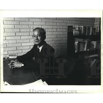 1989 Press Photo Japan Counsul member Mitsuru Eguchi - nob02122