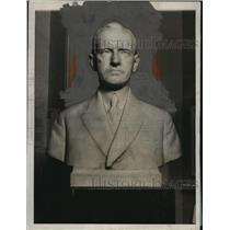 1928 Press Photo Marble bust of President Coolidge by Moses Wainer Dykaar