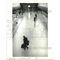 1993 Press Photo View of the ticket counter at New Orleans International Airport