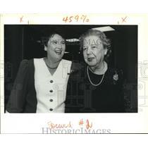1991 Press Photo Eileen J. and Eileen W. Fehr attend Swiss Consulate Reception