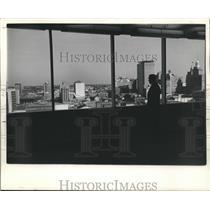 1961 Press Photo FOB conference room, 13th floor, looks over New Orleans