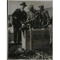 1928 Press Photo Smuggled machine guns on Australian Hungarian Frontier