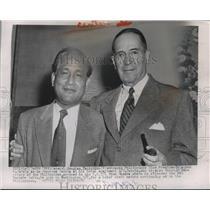 1954 Press Photo General Douglas MacArthur and Vice President Carlos P. Garcia