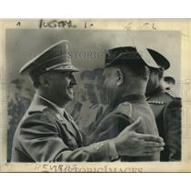 1951 Press Photo General Francisco Franco with troops - nox19726