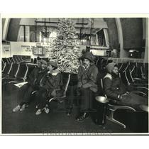 1984 Press Photo Frigid temperatures inside New Orleans International Airport