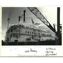 1994 Press Photo Hilton's Flamingo Casino boat at dock. - nob09229
