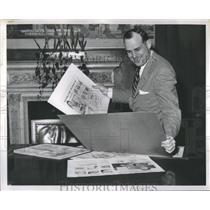 1955 Press Photo John Pingel Detroit Lions Michigan - RRQ05535