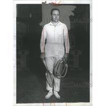1930 Press Photo Hunter Indoor Tennis Player New York - RRQ05041
