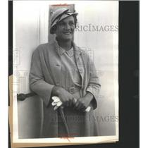 1934 Press Photo Helen Jacobs American Wimbledon Tennis - RRQ05059